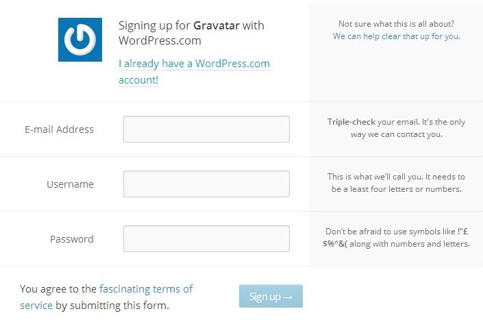gravatar wordpress