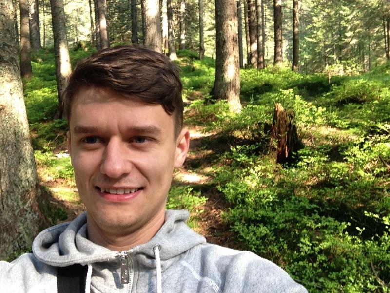 лес перед подъемом на говерлу